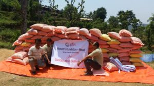 Immediate relief for earthquake victims at Gorkha