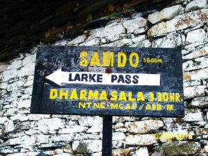 Way to Larke La Pass