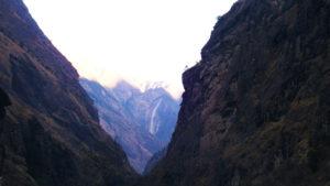 Canyons seen at Manaslu trail