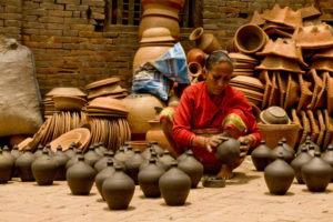 Newari styled pottery