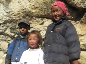 Sherpa kids at Khumbu
