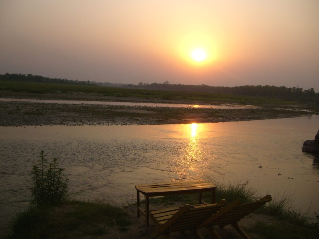 Sunset seen from Sauraha, Chitwan