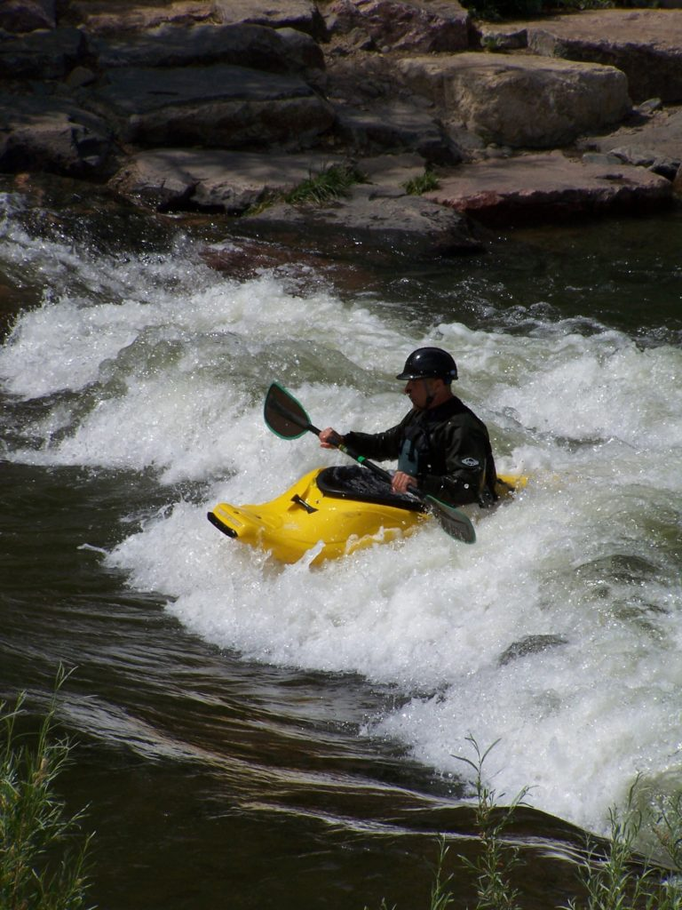 White water kayaking at Trishuli