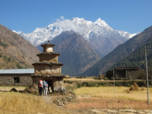 Chorten in Tsum valley