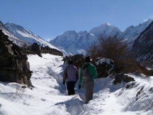 En route to Langtang valley