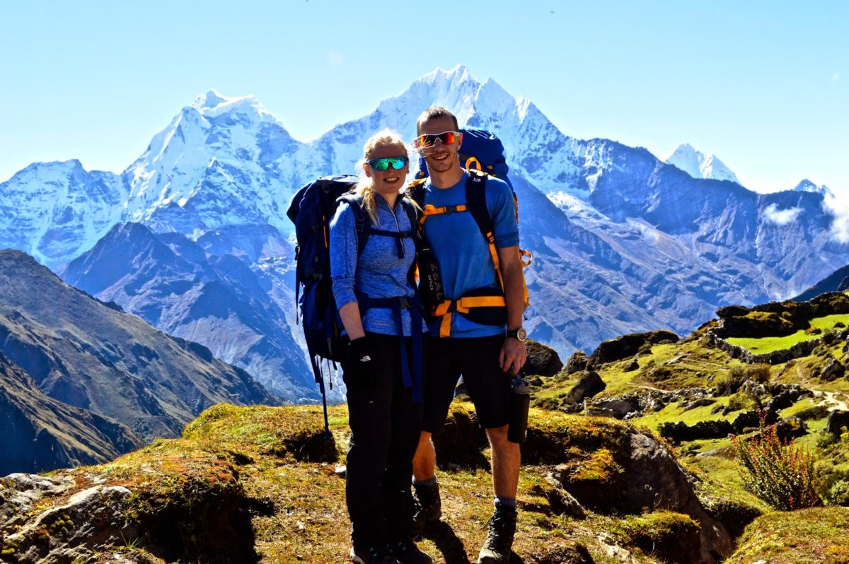 Honeymooningg couple in the Himalaya