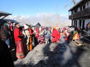 Pilgrims crowding at Muktinath