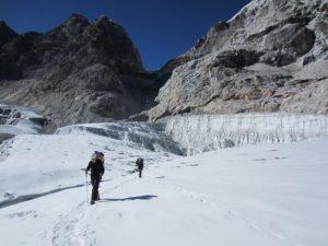 climbers en route to Kyajo ri