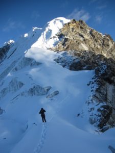 Summiting Lobuche East