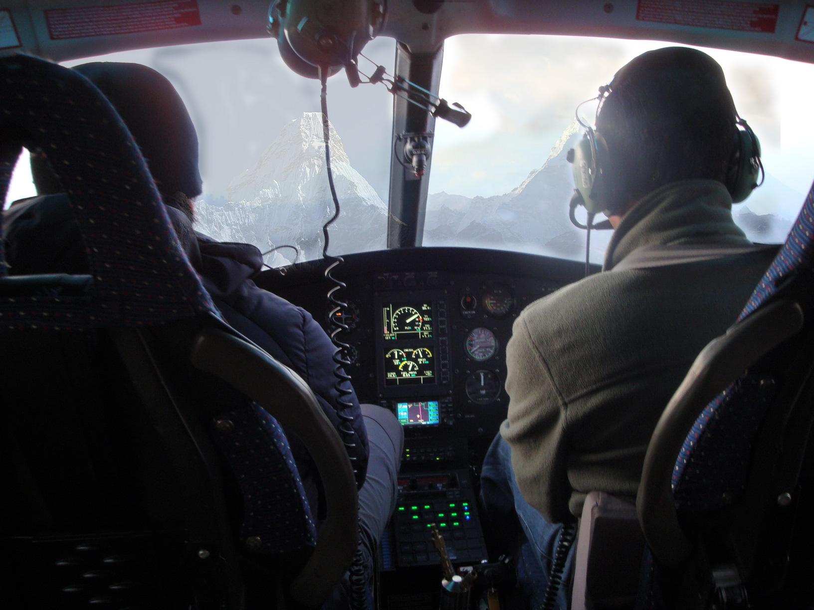 Heli cockpit