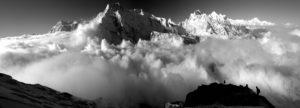 Pisang peak panorama